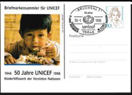Germany Postal Stationary Bedeutende Frauen W/print UNICEF - Used (G109-46) - [7] Federal Republic