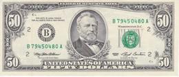 BILLETE DE ESTADOS UNIDOS DE 50 DOLLARS DEL AÑO 1993 LETRA B NEW YORK CALIDAD EBC (XF) (BANK NOTE) - Billetes De La Reserva Federal (1928-...)