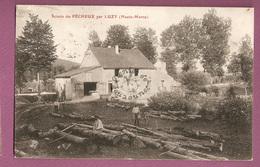 Cpa Luzy Scierie Du Pecheux - Cachet Hurson - Autres Communes