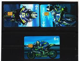 LKW632 SPANIEN 3 STÜCK TELEFONWERTKARTEN MOTIV MOTORRÄDER Gebraucht  SIEHE ABBILDUNG - Motorräder