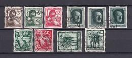 Deutsches Reich - 1937/38 - Michel Nr. 643/647+650+660/663 - Gest. - 23 Euro - Allemagne
