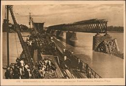 Praga-Warschau Praga Warszawa Wiederaufbau Der Zerstörten Brücke 1916 - Pologne