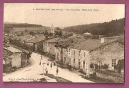Cpa Flammerecourt Vue D'ensemble Place De La Mairie - Cliche Leblanc  éditeur Guillaumé - Autres Communes