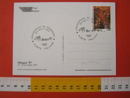 A.13 ITALIA ANNULLO 1997 PRINCIPATO MONACO MONTE CARLO PARTECIPAZIONE POSTE ITALIANE MOSTRA FILATELICA - Esposizioni Filateliche