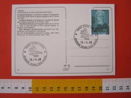 A.13 ITALIA ANNULLO 1998 TORINO OSTENSIONE SACRA SINDONE VOLTO CRISTO 500 ANNI DUOMO CHIESA TIPO 2 FDC - Cristianesimo