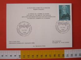 A.13 ITALIA ANNULLO 1998 TORINO OSTENSIONE SACRA SINDONE VOLTO CRISTO 500 ANNI DUOMO CHIESA TIPO 3 PRIMA FOTO PHOTO - Cristianesimo