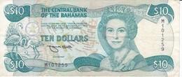 BILLETE DE BAHAMAS DE 10 DOLLARS DEL AÑO 1984  (BANKNOTE) - Bahamas