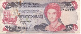 BILLETE DE BAHAMAS DE 20 DOLLARS DEL AÑO 1984  (BANKNOTE) - Bahamas