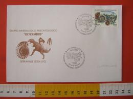 A.13 ITALIA ANNULLO 1998 PERGOLA PESARO URBINO FDC CONVEGNO FOSSILI EVOLUZIONE AMBIENTE CONCHIGLIA SHELL AMMONITE BORGO - Fossili