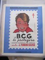 AFFICHE B.C.G. - Signée Jean  A. MERCIER - GARCON - CONTRE LA TUBERCULOSE -  Format : 37 X 30 Cm - Affiches
