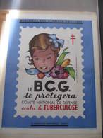 AFFICHE B.C.G. - Signée Jean  A. MERCIER - FILLE - CONTRE LA TUBERCULOSE -  Format : 37 X 30 Cm - Affiches