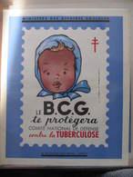 AFFICHE B.C.G. - Signée Jean  A. MERCIER - ENFANT - CONTRE LA TUBERCULOSE -  Format : 37 X 30 Cm - Affiches