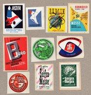 BRD - Vignetten / Werbemarken : Lot Von 10 - Ausstellungen, Handwerk - Vignetten (Erinnophilie)