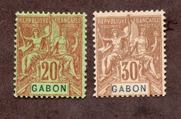 Gabon N°22,24 N* TB Cote 39 Euros !!! - Ongebruikt