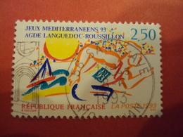 """1990-1999    - Timbre Oblitéré N°  2795 """"   Jeux Méditérannéens     """"     Net   0.20         Photo    5 - France"""