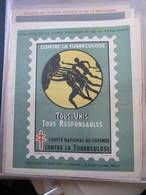 AFFICHE  - Signée André SPITZ - CONTRE LA TUBERCULOSE - TOUS UNIS TOUS RESPONSABLES -   Format : 37 X 30 Cm - Posters