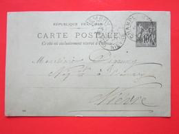Cpa LEON GUIBERT Oblitéré CHAMPLEMY & PREMERY (58) Le 16/?/1900 - Timbre Entier Type SAGE - Ganzsachen