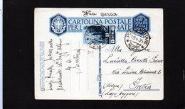CG9 - Italia - Cartolina Postale Con Annullo Posta Militare N. 210 Del 19/4/1936 Dall'Eritrea A.O.I. X Intra - Eritrea