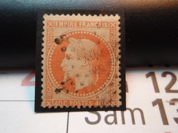 Timbre Empire Français Napoléon III, Lauré, 40 C. Orange. Avec Support + Charnière - 1863-1870 Napoléon III Lauré