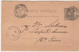 Carte Commerciale 1898 / A. MONTARON Tapissier / 53 Château-Gontier / Mayenne / Sur Entier - France