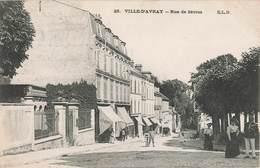 92 Ville D' Avray Rue De Sevres Cpa Carte Animée Cachet 1906 - Ville D'Avray