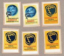 BRD - Vignetten / Werbemarken : Lot  6 Verschiedenen - Hannover Messe 1953, 1954, 1958 - Vignetten (Erinnophilie)