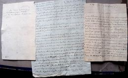 73 CHAMBERY FAMILLE BOCSOZEL MONTGOTIER 3  LETTRES UNE TRANSMISE SECRETEMENT POLITIQUE  ENROLEMENT ESCLAVAGE   1791 - Documents Historiques