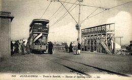 EGIPTO // EGYPTE. ALEXANDRIA. TRAIN TO RAMLEH. STATION OF SPORTING CLUB - Alexandrie