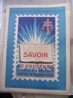 AFFICHE  - Signée André SPITZ - SAVOIR SE PROTEGER CONTRE LA TUBERCULOSE -    Format : 39 X 30 Cm - Affiches