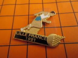 320 Pin's Pins / Belle Qualité Et Rare / THEME SPORTS : ATHLETISME LILLE FRANCE 1991 - Athlétisme