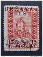 """YUGOSLAVIA SHS -1918- """"Bosnia Sobr."""" H. 15 US° (descrizione) - Usados"""