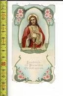 X 250 - IMAGE RELIGIEUSE - COMMUNION SOLENNELLE DE HELENE  & LIONIE TORIS A UCCLE 1920 - Images Religieuses