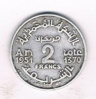 2 FRANCS 1951 MAROKKO /1096/ - Marokko