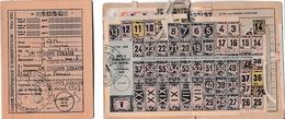 WW2 1949 - LES CHAMPS GERAUX (22) Restrictions - 2 CARTES D'ALIMENTION  D'une Même Famille Avec Tickets - Historical Documents