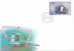 Thailand FDC 12-8-2004 Thailand's First Underground Mass Rapid Transit System With Cachet - Thaïlande