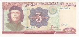 BILLETE DE CUBA DE 3 PESOS DEL AÑO 1995 DEL CHE GUEVARA SIN CIRCULAR-UNCIRCULATED (BANKNOTE) - Cuba