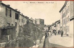 CPA 54- BACCARAT- DENEUVRE -Rue Du Canal-animée-circulée 1928 Scans Recto Verso- Paypal Sans Frais - Baccarat