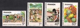 Rwanda 1987 Yvertn°  1297-1300  *** MNH Cote 4,50 € Fruits Flora - 1980-89: Neufs