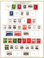 Cecoslovacchia-B-0016 - Lotto Di Oltre 500 Francobolli Aderiti Su Fogli Di Album - Scansione Tipologica  (o) Used - - Non Classificati