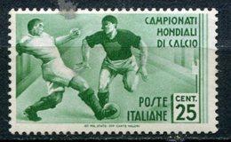 Regno - 1934 - Mondiali Di Calcio - 25 Cent. * - Neufs