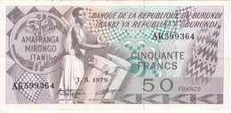 BILLETE DE BURUNDI DE 50 FRANCS DEL AÑO 1979 (BANKNOTE) - Burundi