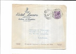 1955 Italie Hotel Ancora Cortina D'amperro - Marcophilie - EMA (Empreintes Machines)