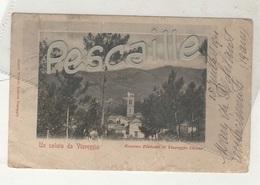TOSCANA - CP UN SALUTO DA VIAREGGIO - BOZZANO DINTORNI DI VIAREGGIO CHIESA - ANGELLO TONELLI EDITORE - CIRCULEE EN 1901 - Viareggio