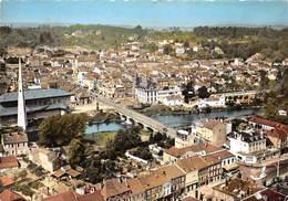 54 .n° 21233 . Baccarat . Le Pont Sur La Meurthe .vue Generale Aerienne . Cpsm .10.5 X 15cm . - Baccarat