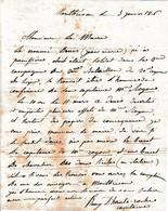 1816 MONTBRISON - L.A.S. Rémy D'HAUTE-ROCHE, Capitaine à La Commune De PANISSIERES (42) - Historical Documents