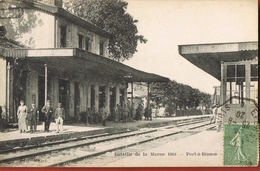 CP 51- PORT-à-BINSON- LA GARE  Bataille De La Marne-circulée 1920- Scans Recto Verso- Paypal Sans Frais - France