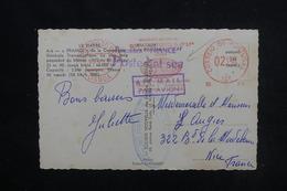 PORTUGAL - Affranchissement Mécanique De Lisbonne Sur Carte Postale Du France  En 1965 ( Posté à Bord ) - L 52809 - Covers & Documents