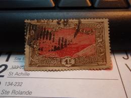 Timbre Côte Française Des Somalis 1 Franc. Oblitéré. - Côte Française Des Somalis (1894-1967)