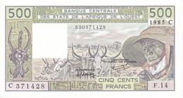 BILLETE DE BURKINA FASO DE 500 FRANCS DEL AÑO 1985 SIN CIRCULAR-UNCIRCULATED (BANKNOTE) - Burkina Faso