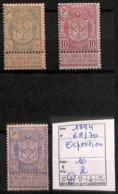 D - [821602]TB//*/Mh-c:10e-Belgique 1894 - N° 68/70,  Exposition - 1894-1896 Expositions